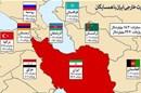 تجارت خارجی ایران با ۱۵ کشور همسایه